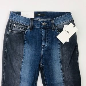 7 for all mankind two tone ankle skinny jeans